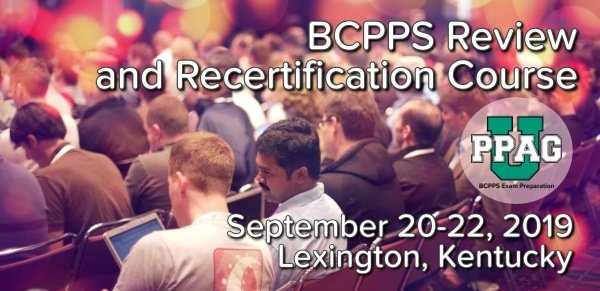 BCPPS Review and Recertification Course | Fall 2019